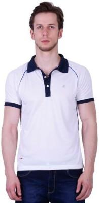 Duke Stardust Solid Men's Polo Neck White T-Shirt