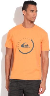 Quiksilver Printed Men's Round Neck Orange T-Shirt