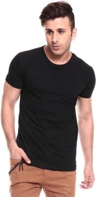 Lowcha Solid Men's Round Neck Black T-Shirt