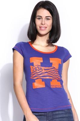 Harvard Printed Women,s Round Neck T-Shirt