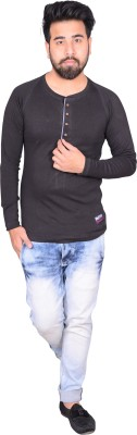 Zrestha Solid Men's Round Neck Black T-Shirt