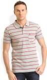 HW Striped Men's Round Neck Grey T-Shirt