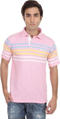 Skatti Striped Men,s Polo Neck T-Shirt