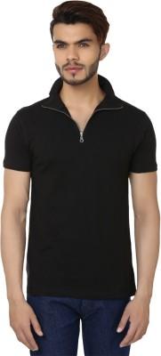 Bajo Solid Men's Fashion Neck Black T-Shirt