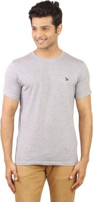 Wermin Solid Men's Round Neck Grey T-Shirt