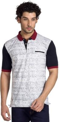 Klub Fox Printed Men's Polo Neck White T-Shirt