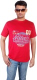 Troy Printed Men's Round Neck Red T-Shir...