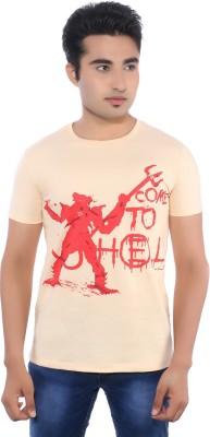 Pavitra Paapi Printed Men's Round Neck Pink T-Shirt