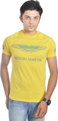 Hackett Graphic Print Men's Round Neck Yellow T-Shirt