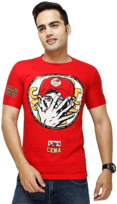 deccan store Printed Men,s Round Neck Red T-Shirt