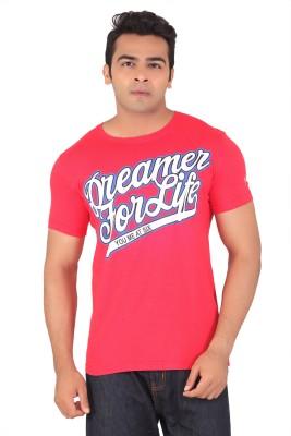 Radbone Printed Men's Round Neck Red T-Shirt