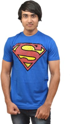 RED N HOT Graphic Print Men's Round Neck Blue T-Shirt