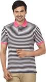 Ruse Striped Men's Polo Neck Blue T-Shir...
