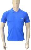 Li-Ning Solid Men's Polo Neck Blue T-Shi...