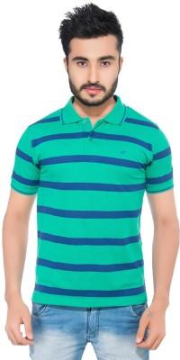 Fabilano Striped Men's Polo Neck Green, Blue T-Shirt
