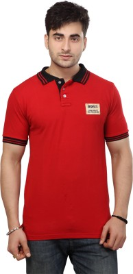 Free Spirit Solid Men's Polo Red T-Shirt