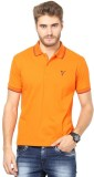 The Vanca Solid Men's Polo Neck Orange T...