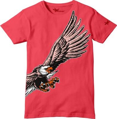 Grasshopr Graphic Print Baby Boy's Round Neck Pink T-Shirt