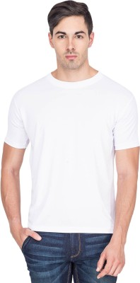 Sulpher Solid Men's Round Neck White T-Shirt