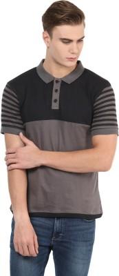 Benoit Striped Men's Polo Grey T-Shirt
