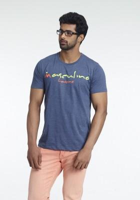 Fashnopolism Solid Men's Round Neck Blue T-Shirt