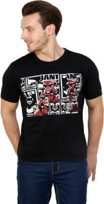 Espresso Printed Men's Round Neck Black T-Shirt