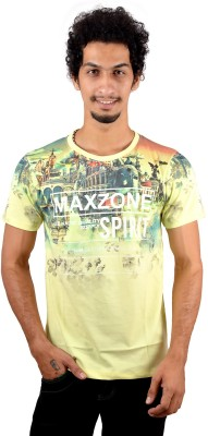 GreyBooze Graphic Print Men's Round Neck T-Shirt