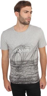 Calvin Klein Printed Men's Round Neck Grey T-Shirt