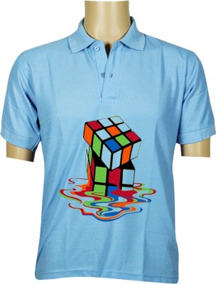 Budding Prints Printed Men's Polo T-Shirt