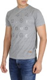 Easies Printed Men's Round Neck Grey T-S...