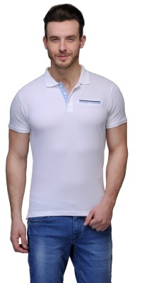Buckland Solid Men's Polo White T-Shirt