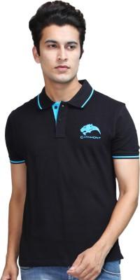 CATAMONT Solid Men's Polo Black T-Shirt