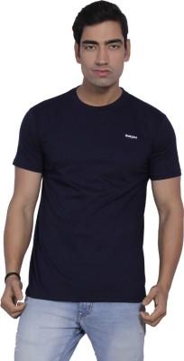 B2 Solid Men's Round Neck Dark Blue T-Shirt