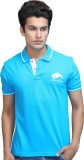 Catamont Solid Men's Polo Neck Blue T-Sh...