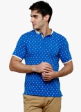 Raw Addict Printed Men's Polo Neck Blue ...