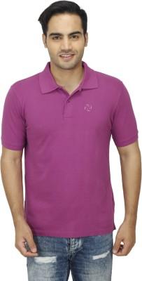 Zista Solid Men's Polo Purple T-Shirt