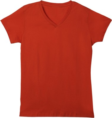 F Fashion Stylus T- shirt For Girls(Red)