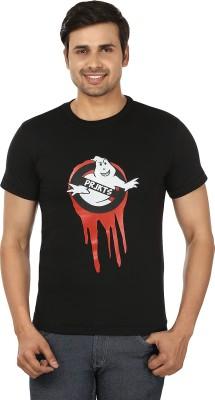 PRJKTS Printed Men's Round Neck Black T-Shirt