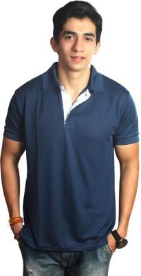 EPG Solid Men's Polo Dark Blue T-Shirt