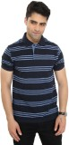 Bongio Solid Men's Polo Neck Blue T-Shir...