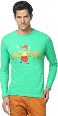 Gabambo Graphic Print Men's Round Neck Green T-Shirt
