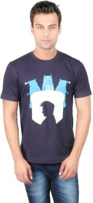 Redwolf Graphic Print Men's Round Neck Blue T-Shirt
