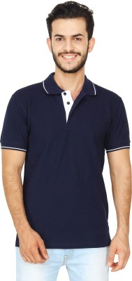 United Squares Solid Men's Polo Neck T-Shirt