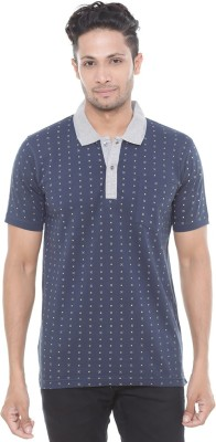 Wexford Solid Men's Polo Neck Dark Blue T-Shirt