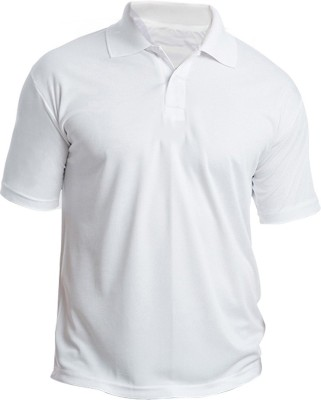 Silver Swan Solid Men's Polo White T-Shirt