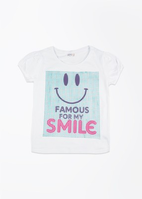 People T- shirt For Girls(White)