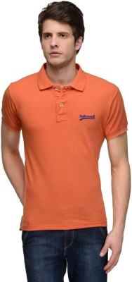 Tailor Craft Solid Men's Polo Orange T-Shirt