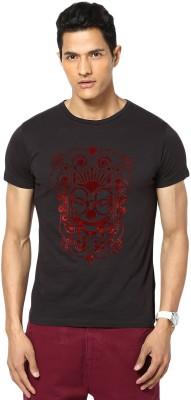 Gabambo Graphic Print Men's Round Neck Black T-Shirt