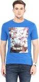 Cayman Printed Men's Round Neck Dark Blu...