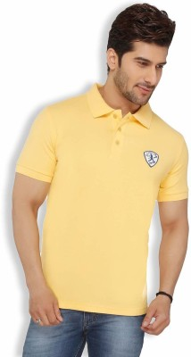 Live In Solid Men's Polo Yellow T-Shirt